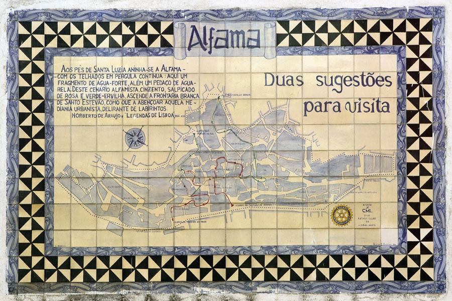 Alfama - tiled map