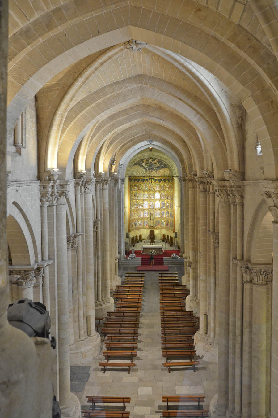Salamanca Cathedral - view to old church