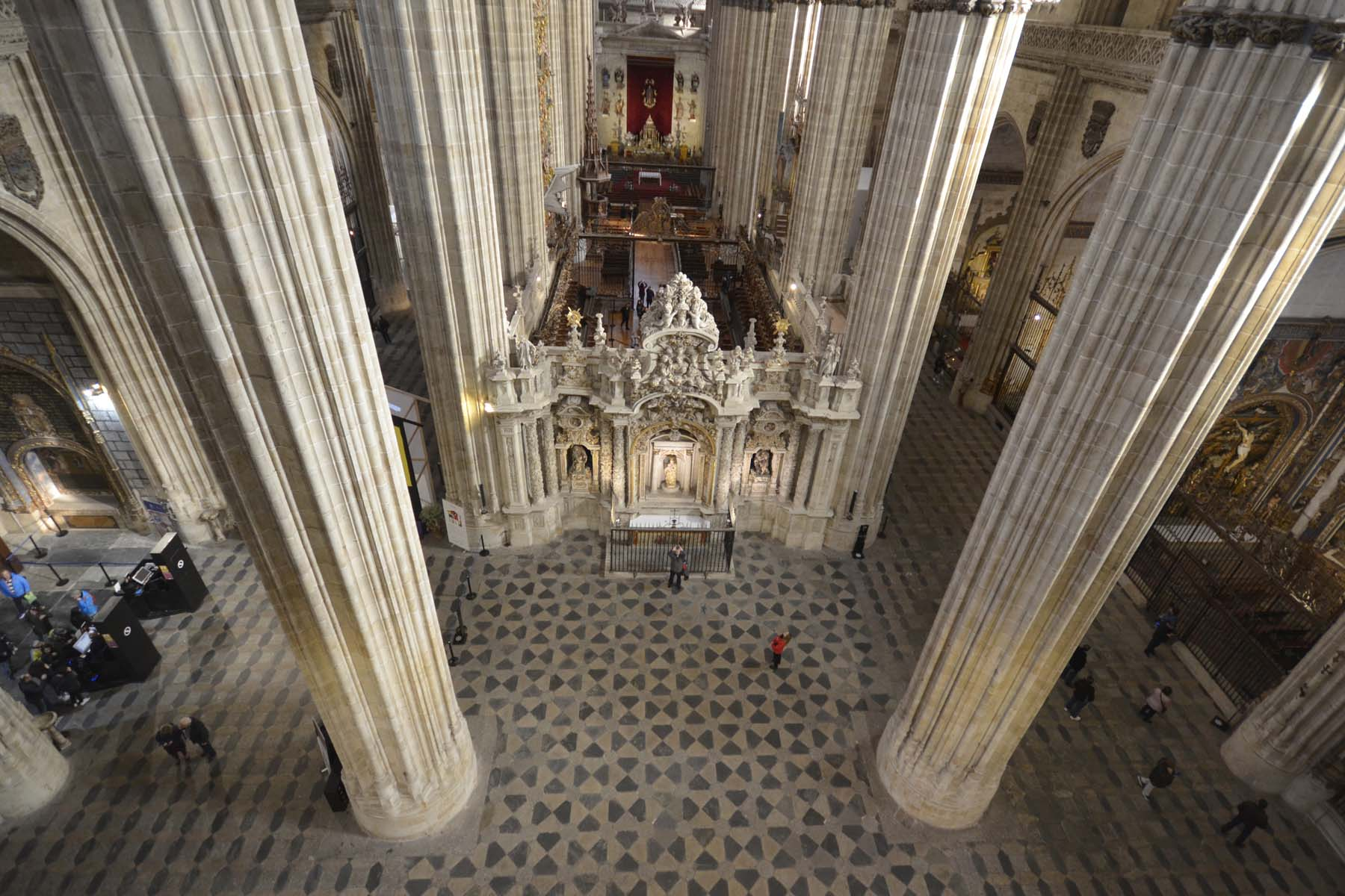 Salamanca Cathedral - view to new church